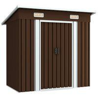 vidaXL Garden Storage Shed Brown 194x121x181 cm Steel