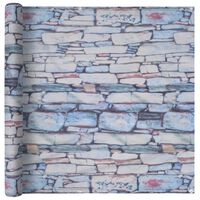 vidaXL Balcony Screen Oxford Fabric 90x400 cm Stone Wall Print