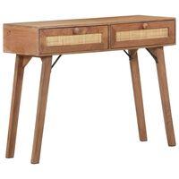 vidaXL Console Table 100x35x76 cm Solid Mango Wood