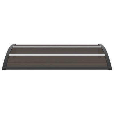vidaXL Door Canopy Black 150x100 cm PC