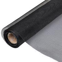 vidaXL Mesh Screen Fiberglass 100x1000 cm Black