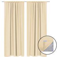 vidaXL Blackout Curtains 2 pcs Double Layer 140x245 cm Beige