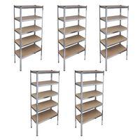 Storage Rack Garage Storage Shelf 5pcs