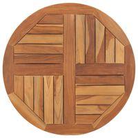 vidaXL Table Top Solid Teak Wood Round 2.5 cm 70 cm