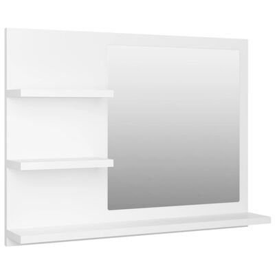 vidaXL Bathroom Mirror White 60x10.5x45 cm Chipboard