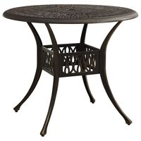 vidaXL Garden Table Bronze 90x90x74 cm Cast Aluminium