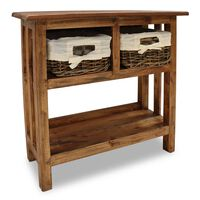 vidaXL Console Table Solid Reclaimed Wood 69x28x70 cm