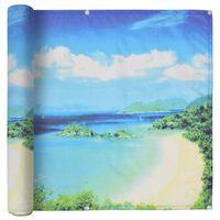 vidaXL Balcony Screen Oxford Fabric 75x400 cm Lake View Print