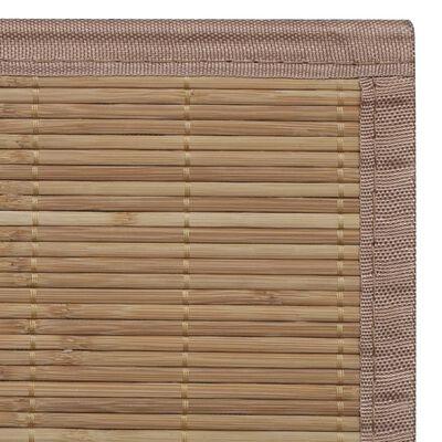 vidaXL Rug Bamboo 100x160 cm Brown