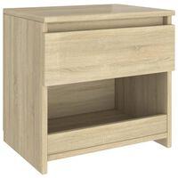 vidaXL Bedside Cabinet Sonoma Oak 40x30x39 cm Chipboard