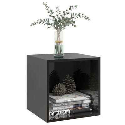 vidaXL Wall Cabinets 2 pcs High Gloss Black 37x37x37 cm Chipboard