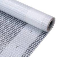 vidaXL Leno Tarpaulin 260 g/m² 4x4 m White