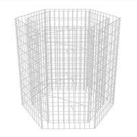 vidaXL Hexagonal Gabion Raised Bed 100x90x100 cm