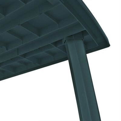 vidaXL Garden Table Green 210x96x72 cm Plastic