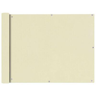 vidaXL Balcony Screen Oxford Fabric 90x400 cm Cream