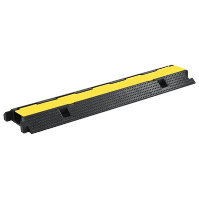vidaXL Cable Protector Ramp 1 Channel Rubber 100 cm
