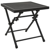vidaXL Folding Table Mesh 38x38x38 cm Steel Anthracite