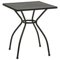 vidaXL Bistro Table 60x60x70 cm Steel Mesh