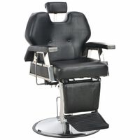 vidaXL Barber Chair Black 72x68x98 cm Faux Leather