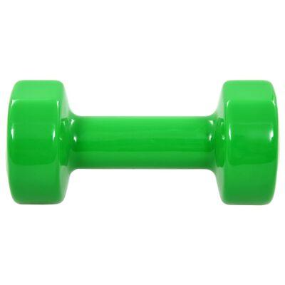 vidaXL Dumbbell 2 pcs 2x4 kg Cast Iron Green