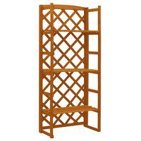 vidaXL Plant Stand with Trellis Orange 60x30x140 cm Solid Firwood