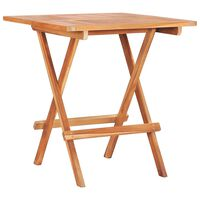 vidaXL Folding Bistro Table 60x60x65 cm Solid Teak Wood
