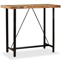 vidaXL Bar Table 120x60x107 cm Solid Reclaimed Wood