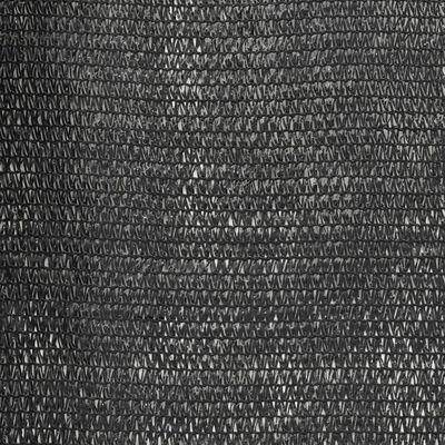 vidaXL Privacy Net HDPE 2x10 m Black