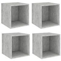 vidaXL Wall Cabinets 4 pcs Concrete Grey 37x37x37 cm Chipboard