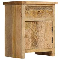 vidaXL Bedside Table Solid Mango Wood 40x30x50 cm