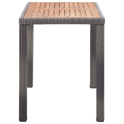 vidaXL Garden Table Anthracite and Brown 123x60x74 cm Solid Acacia Wood