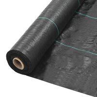 vidaXL Weed & Root Control Mat PP 2x10 m Black
