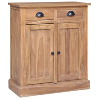 vidaXL Side Cabinet 65x30x75 cm Solid Teak