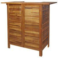 vidaXL Bar Table 110x50x105 cm Solid Acacia Wood