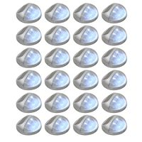 vidaXL Outdoor Solar Wall Lamps LED 24 pcs Round Silver