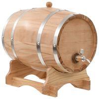 vidaXL Wine Barrel with Tap Solid Pinewood 12 L