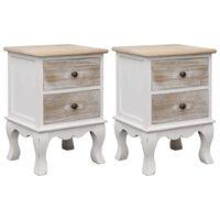 vidaXL Bedside Cabinets 2 pcs 35x30x50 cm Paulownia Wood