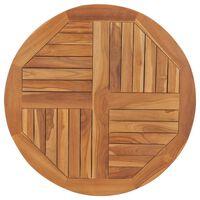 vidaXL Table Top Solid Teak Wood Round 2.5 cm 80 cm