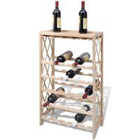 vidaXL Wine Rack for 25 Bottles Wood