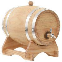 vidaXL Wine Barrel with Tap Solid Pinewood 6 L