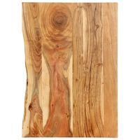 vidaXL Bathroom Vanity Top Solid Acacia Wood 80x55x2.5 cm