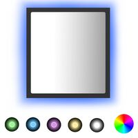 vidaXL LED Bathroom Mirror Grey 40x8.5x37 cm Chipboard