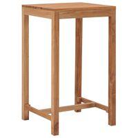 vidaXL Garden Bar Table 60x60x105 cm Solid Teak Wood