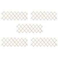 vidaXL Trellis Fences 5 pcs Firwood 180x60 cm
