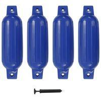 vidaXL Boat Fender 4 pcs Blue 41x11.5 cm PVC