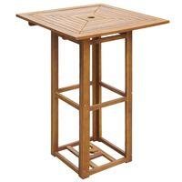 vidaXL Bistro Table 75x75x110 cm Solid Acacia Wood