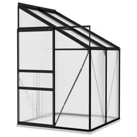 vidaXL Greenhouse Anthracite Aluminium 2.7 m³
