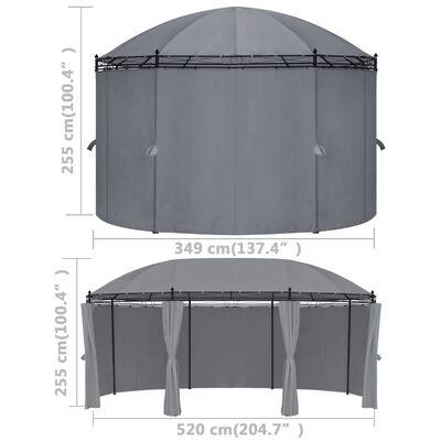 vidaXL Gazebo with Curtains 520x349x255 cm Anthracite