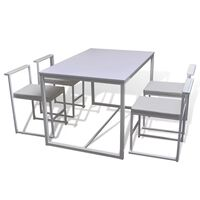 vidaXL 5 Piece Dining Table and Chair Set White