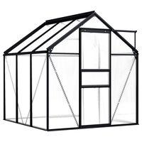vidaXL Greenhouse Anthracite Aluminium 3.61 m²
